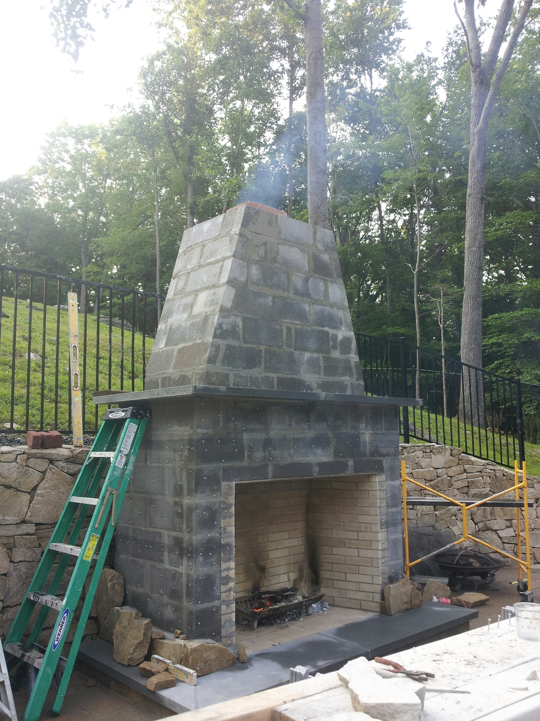 Chimney construction repair chimneys plus chimney for Fireplace chimney construction