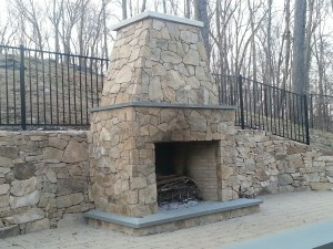 Chimneys Plus Bethel CT Outdoor Fireplace After